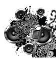 sketch speaker abstract vector image vector image