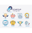 Start Up Icon Set vector image vector image
