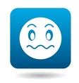 Surprised emoticon icon simple style vector image