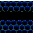 hexagon cell background vector image