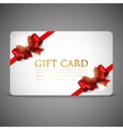 gift cards with red bows and ribbons vector image