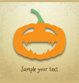 halloween card with funny pumpkin vector image