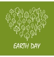Heart with trees symbol for Earth Day design vector image