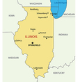 Illinois - map vector image
