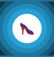 isolated sandal flat icon heeled shoe vector image