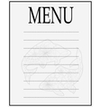 Menu of seafood vector image