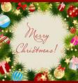 Merry Christmas Card Frame vector image
