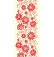 Red poppy flowers vertical seamless pattern border vector image