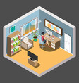 workspace concept design isometric vector image