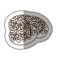 figure chocolate donuts icon vector image
