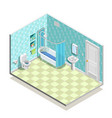 isometric bath room composition vector image