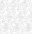 White abstract sea wave lines seamless vector image