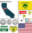 Oakland California set vector image