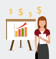Business profit design vector image
