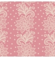 Old white elegant doily on lace pink background vector image