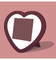 Heart photo frame vector image vector image