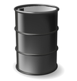 Black steel barrel vector image