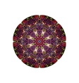 Colorful round mandala template vector image