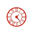 Elegant roman numeral clock icon flat style vector image