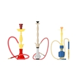 Isolated hookah with water pipe for tobacco vector image