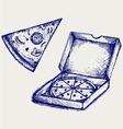 Pizzas vector image