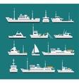 Ships flat set vector image