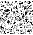 drawing art tools - seamless background vector image