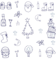 Object christmas doodle set vector image
