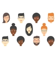 Set of human faces expressing different emotions vector image