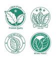 mint leaf logo icons or menthol spearmint labels vector image