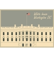 white house washington dc vector image vector image