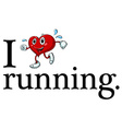 Running sign vector image