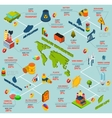Pollution Isometric Infographics vector image