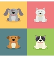 Cute Cartoon Dogs vector image