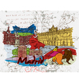 madrid doodles vector image vector image