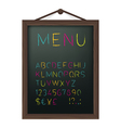 Cafe menu board vector image vector image