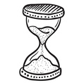 black and white hourglass vector image