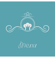 Chef hat crown and round abstract frame Menu card vector image