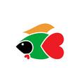 Fish Warrior 380x400 vector image