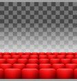 red seats set vector image