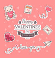 st valentines card template vector image