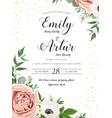 wedding floral invite invitation card design rose vector image