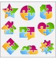 Puzzle Objects Collection vector image