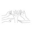 Set of hands vector image