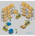 Warehouse loading isometric vector image