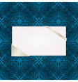 greeting card on seamless pattern vector image