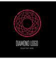 Diamond grunge logo 4 vector image