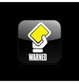warning icon vector image vector image