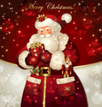 christmas with santa claus vector image