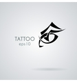 eye icon in the style of tattoos vector image